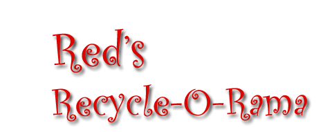 Red Recycle-O-Rama PNG